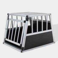 Aluminum Dog cage: Pet Products, Dog Goods Single Door Aluminum Dog cage 75a 54cm 06-0765 Single Door Aluminum Dog cage 75a 54cm 06-0765
