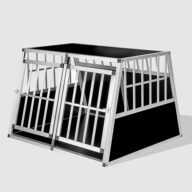 Aluminum Dog cage: Pet Products, Dog Goods Aluminum Large Double Door Dog cage With Separate board 65a 104 06-0776 Aluminum Large Double Door Dog cage With Separate board 65a 104 06-0776