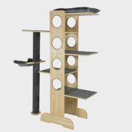 Pet Furniture Products factory supply natur wood cat tree 06-0194