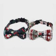 Dog Bow Tie Christmas: New Christmas Pet Collar 06-1301 Pet collars leashes bandana: pet supplies oem custom collar bling dog collar