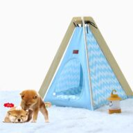 Animal Dog House Tent: OEM 100%Cotton Canvas Dog Cat Portable Washable Waterproof Small 06-0953 Pet Tents: Pet Teepee Bed House Folding Dog Cat Tents Dog Tent outdoor pet tent