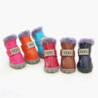 Pet Plus Velvet Puppy Shoes Warm Foot Covers Ugg Bootss Pet shoes Dog Shoes