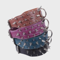 Dog Harness: Collar & Pet Harness Factory Multicolor Optional Popular Wide Studded PU Leather Spiked Dog Chain Collar Multicolor Optional Popular Wide Studded PU Leather Spiked Dog Chain Collar